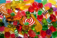 Trick-or-treat sweets. Halloween pick'n mix candy assortment Royalty Free Stock Photography