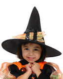 Trick or treat three. Having fun before going trick or treating Royalty Free Stock Images