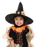 Trick or treat two. Having fun before going trick or treating Royalty Free Stock Image