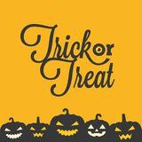 Trick or treat typographic with jack o lantern poster Stock Photos