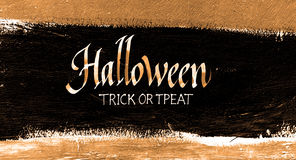 Trick or treat.typography halloween poster with calligraphy Stock Photos