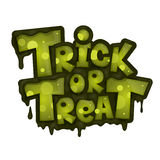 Trick or treat on white background Stock Photo