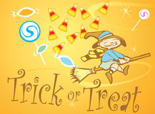 Trick or Treat Witch Royalty Free Stock Photos