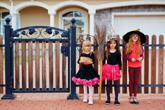 Trick-or-treat witches Royalty Free Stock Image
