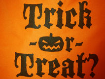 Trick or Treat? Stock Photo