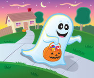 Trick or Treating Ghost Stock Image