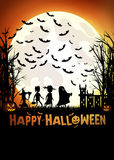 Trick or treating on Halloween Royalty Free Stock Image