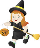 Trick or Treating Witch Royalty Free Stock Photos