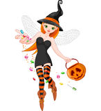 Trick or treating witch Stock Photography