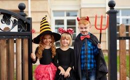 Trickers de Halloween Photographie stock libre de droits
