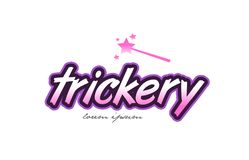 trickery word text logo icon design concept idea Stock Images