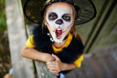 Tricking at Halloween Royalty Free Stock Photography
