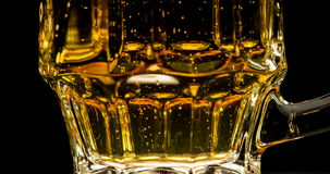 Trickle of Bubbles in Beer stock footage
