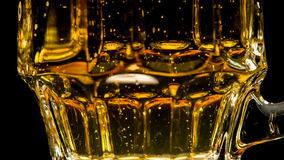 Trickle of Bubbles in Beer stock video