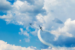 Tricks der zwei Jets Stockbilder