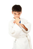 Tricks guy in karate Royalty Free Stock Photo