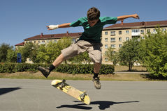 Tricks on a skateboard Royalty Free Stock Photos
