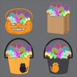 Tricks or Treats Halloween Jack O Lantern. Vector Illustration Stock Photo