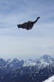 Trickster dello Snowboard Fotografia Stock