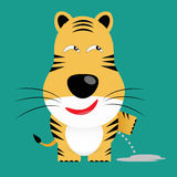 Tricky bengal tiger cartoon character Stock Images
