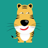 Tricky bengal tiger cartoon character.  Royalty Free Stock Photography