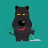 Tricky black leopard cartoon character Stock Photos