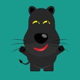 Tricky black leopard cartoon character Royalty Free Stock Photos