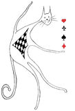 Tricky cat. Tricky cat offering to play poker Royalty Free Stock Images