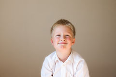 Tricky child thinking Stock Images