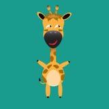 Tricky giraffe cartoon character Royalty Free Stock Photos