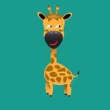 Tricky giraffe cartoon character Royalty Free Stock Photo