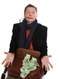 Tricky and greedy man Stock Images
