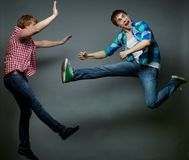 Tricky jump Royalty Free Stock Image