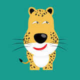 Tricky leopard cartoon character Royalty Free Stock Images