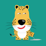 Tricky leopard cartoon character Stock Image