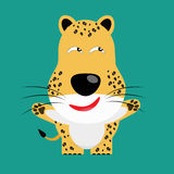 Tricky Leopard Cartoon Character Stock Photos