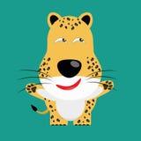 Tricky leopard cartoon character Stock Photos