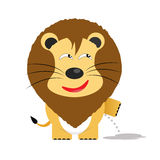 Tricky lion cartoon character Royalty Free Stock Photography