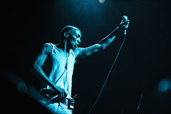 Tricky presents his album Skilled Mechanics in Russia. MOSCOW - 30 MARCH, 2016 - Famous trip hop producer and singer Adrrian Thaws known as Tricky presents his Stock Images