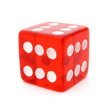 Tricky red die Stock Photo