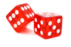 Tricky red die Stock Photography