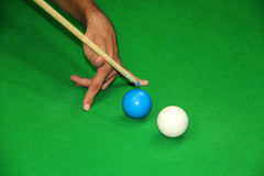 Tricky Snooker Shot Royalty Free Stock Photo