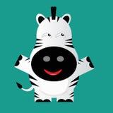 Tricky zebra cartoon character Stock Photography