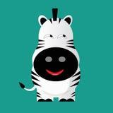 Tricky zebra cartoon character Royalty Free Stock Photography