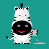 Tricky zeebra cartoon character Royalty Free Stock Photography