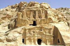 triclin för tomb för siq för petra för obelisk för babel jordan Arkivbilder