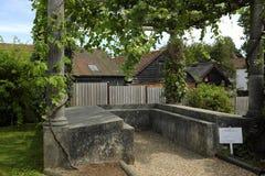 Triclinium in de tuinen van Fishbourne Roman Palace Royalty-vrije Stock Afbeeldingen