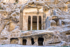 The triclinium at Little Petra, Jordan Royalty Free Stock Image