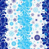 Tricolor темная - голубой - бело-голубая безшовная картина рождества иллюстрация вектора
