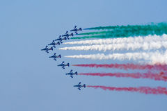 Tricolor airplanes Stock Photography